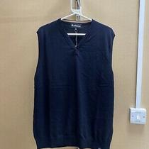 Mens Brand New Navy Sleeveless Barbour Vest Size Xxl Photo