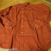 Mens Brick Casual Button Up Shirt From Eddie Bauer Size Xl Photo