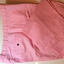 Mens Brooks Brothers Linen Slacks Flat Front Hudson 40 X 30 Pink Like New Photo