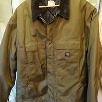Mens Brown Carhartt  Jacket Quilted Lining - Sz 2xl - Exc Photo
