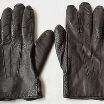 Mens Brown French Connection Leather Gloves Size S Small Photo