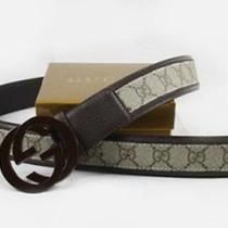 Mens Brown Gg Gucci Belt 125cm Photo