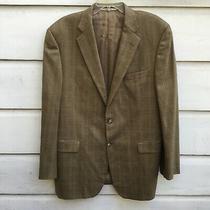 Mens Brown Plaid Burberry London Bond Street Wool Blazer Sport Jacket 44 Long Photo