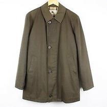 Mens Burberry London Nova Check Collar Brown Cotton Coat Jacket (L Size) Photo