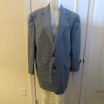 Mens Burberry Lt Blue/blue/brown Checkered 2 Button Blazer - Size 44 Long Photo