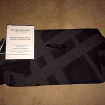 Mens Burberry Vanity Travel Case Double Zipper Black Grey Photo