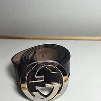 Mens Burgundy Gucci Belt Size 38 Photo