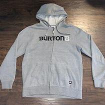 Mens Burton Full-Zip Grey Hoodie (Medium) Photo