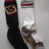 Mens Burton Radical Snowboard Socks Weekender 2 Pack Set Small New Photo