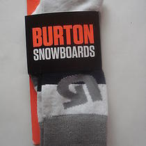 Mens Burton Snowboard Tailgate Socks Stripe Small New Photo
