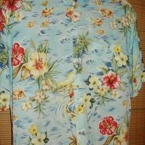 Mens Campia Moda Ss Rayon Casual Floral Hawaiian Shirt Xl Photo