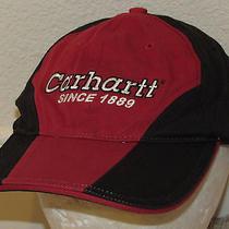 Mens Carhartt A177 Red & Black Fitted Hat Cap Sz M/l Photo