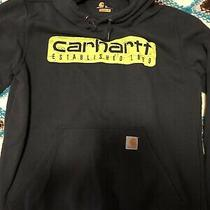 Mens Carhartt Blue Medium Hooded Sweatshirt Photo