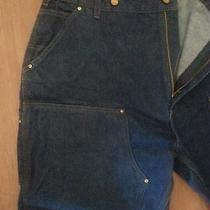 Mens Carhartt Double Front Logger Dungaree Size 42x32 Like New Condition Photo