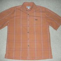 Mens Carhartt Medium Plaid Short Sleeve Button Up Shirt Size Medium Photo