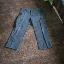 Mens Carhartt Relaxed Fit Carpenter Cargo Black Pants Size 40 X 28 Photo