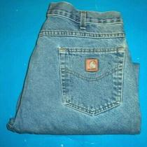Mens Carhartt Relaxed Fit Jeans Size 38 X 28    ...924 Photo