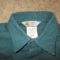 Mens Carhartt Rugged Outdoor Wear Chamois Shirt Size Lg Tall Photo