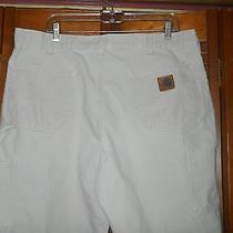 Mens Carhartt Tan / Off White Carpenter Pants  Photo