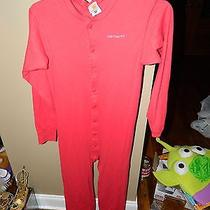 Mens Carhartt Thermal Drop Seat Red Pajamas Pjs Underwear One Piece Red Sz L Euc Photo