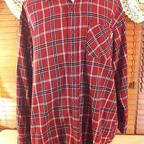 Mens Carhartt Xxl-2xl Lumberjack Shirt Old Barn Burgundy Guc Photo