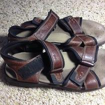Mens Clarks Sandals Leather Size 10 M Brown Leather Nice Shoes. Ked Photo