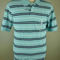 Mens Club Room Estate Caribe Cotton Short Sleeve Stripe Polo Shirt M Medium Nwt Photo