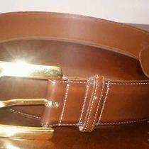 Mens Coach Belt Leather Brown L 39