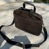 Mens Coach Hamilton Leather Messenger Bag Briefcase Lap Top - Mahogany Brown Nwt Photo