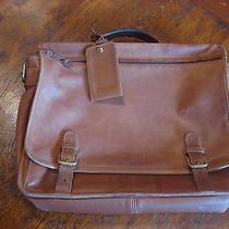 Mens Coach Leather Messenger Computer Travel Bag Satchel  Photo