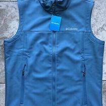 Mens Columbia Blue Soft Shell Vest Size Large New Acg 90s Hip Hop Fishing Photo