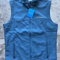 Mens Columbia Blue Soft Shell Vest Size Medium New Acg 90s Hip Hop Fishing Photo