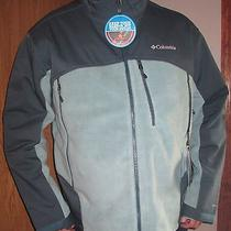 Mens Columbia Heat Elite Ski Jacket 170 Gray Xl Omni Shield & Heat Nwt Coat Photo