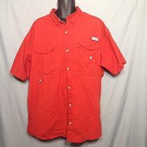 Mens Columbia Pfg Fishing Shirt Red Xxl Photo