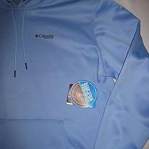 Mens Columbia Pfg Ls Heat Up Omni-Heat Hoodie Graphic Sweatshirt Blue Xxl Nwt Photo