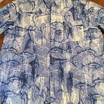 Mens Columbia Pfg - Performance Fishing Gear Shirt Fish Motif S/s Szl Euc Photo