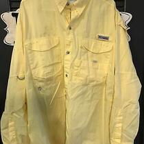 Mens Columbia Pfg Shirt Size Xl Yellow Long Sleeve Photo