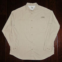 Mens Columbia Pfg Tamiami Ii L/s Fossil Vented Fishing Shirt Xl Fm7253 Photo