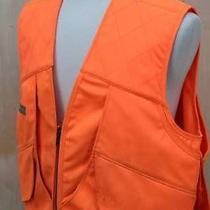 Mens Columbia Pheasant Hunting Orange Outdoors Field Vest Sz Large Photo
