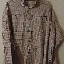Mens Columbia Plaid Button Shirt Size Xl River Lodge Long Sleeve Free Shipping Photo