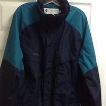 Mens Columbia Radial Sleeve Powder Keg  Lined Nylon Jacket Sz Lt Large Tall Photo
