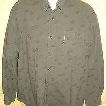 Mens Columbia River Lodge Long Sleeve Shirt With Deer Tracks Print Size Xl Nice Photo