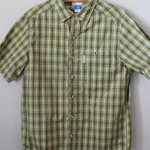 Mens Columbia Short Sleeve Plaid Button Down Shirt Sz M Fishing Hiking Top Photo