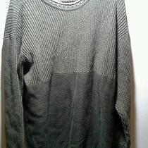 Mens Columbia Size Large Sweater Cable Knit Cotton Green Photo