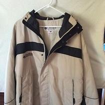 Mens Columbia Softshell Jacket Tan Black Sz Xl  Photo