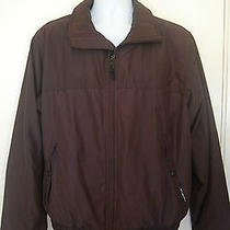 Mens Columbia Sportswear Jacket Coat Black Micro Suede Zip Up Size Medium M Photo