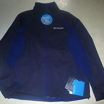 Mens Columbia Tectonic Softshell Jacket Navy Blue Medium Omni Heat  Nwt 130 Photo
