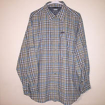 Mens Columbia Titanium Nylon Plaid Checks Side Mesh Vent L/s Fishing Shirt Large Photo