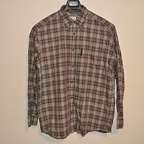 Mens Columbia Xco Brown Plaid Long Sleeve Shirt M Medium Free Shipping Photo