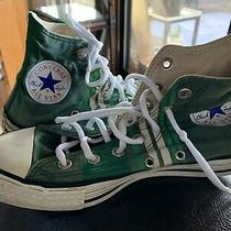 Mens Converse Chuck Taylor All Star Size 5 Sneakers Green Striped Photo